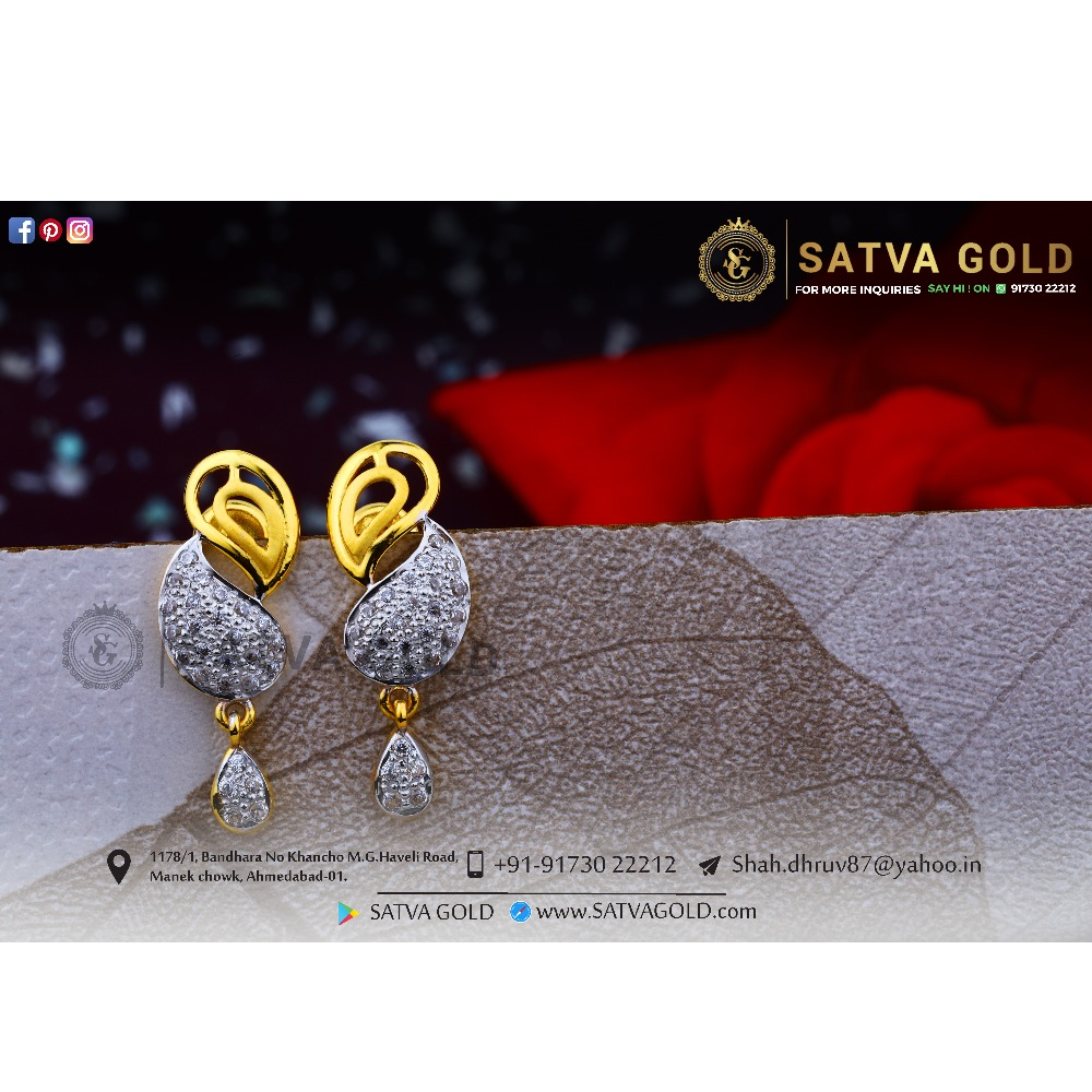 916 gold earrings sge-0037