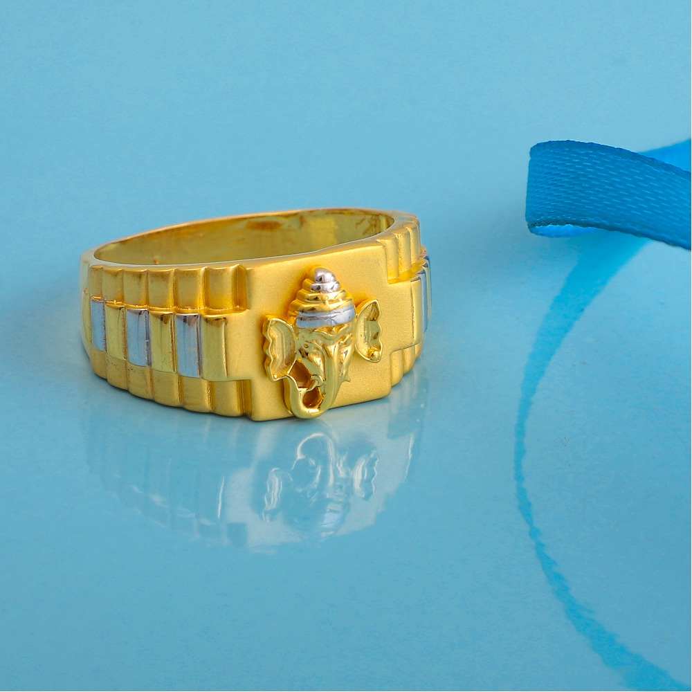 916 gold plain design ring gr-7772