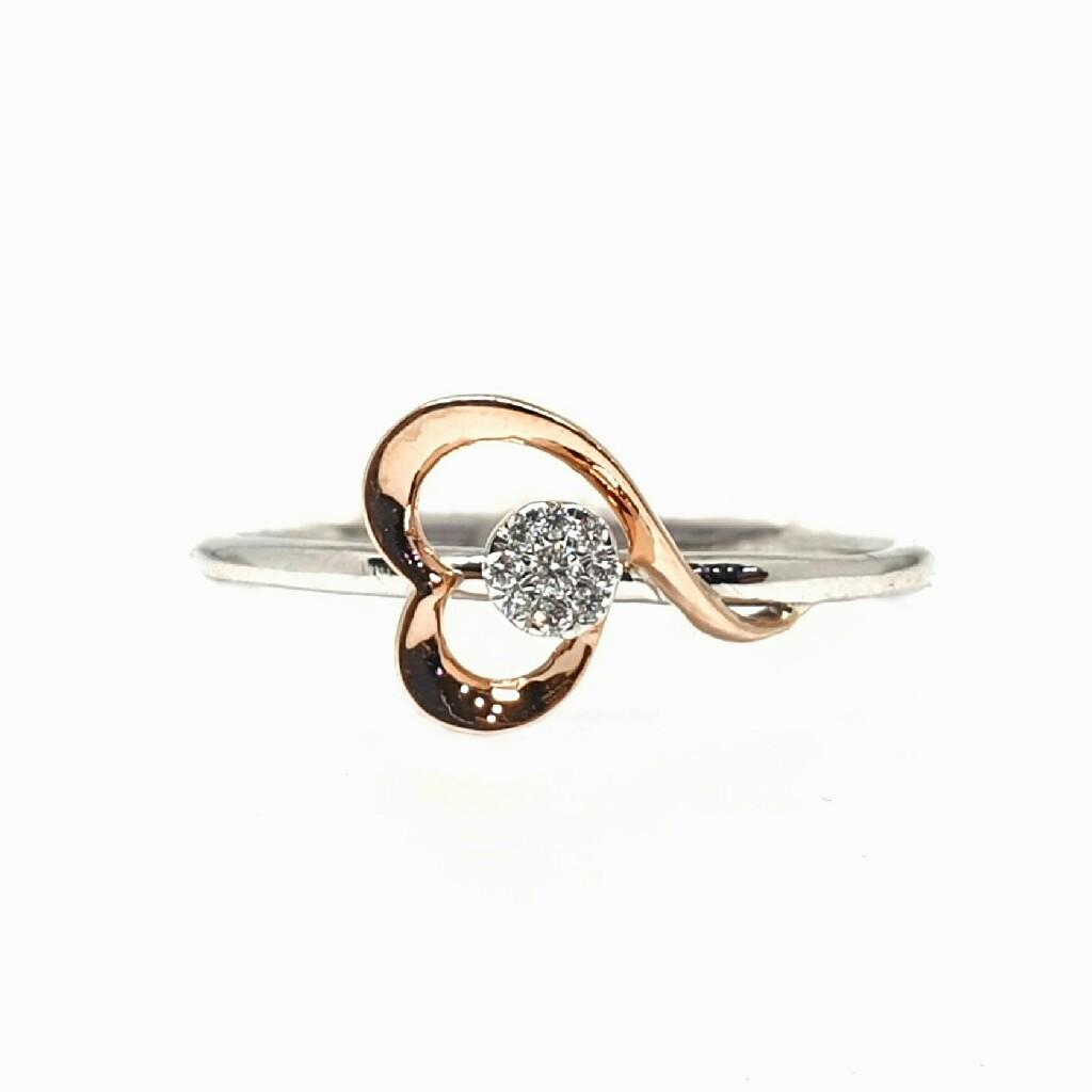 18k white gold real diamond ring mga - rdr0010