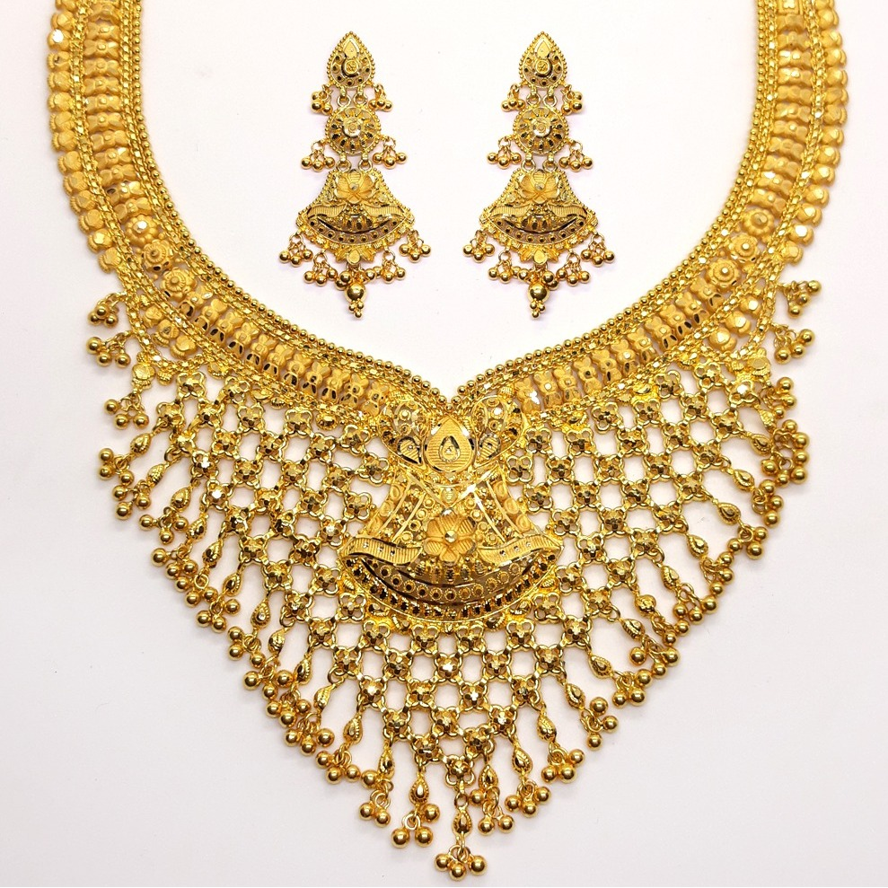 Gold jewellery set for bridal sk - gb002