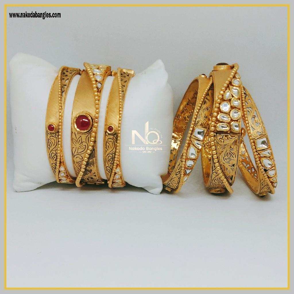 916 Gold Patla Bangles NB-294