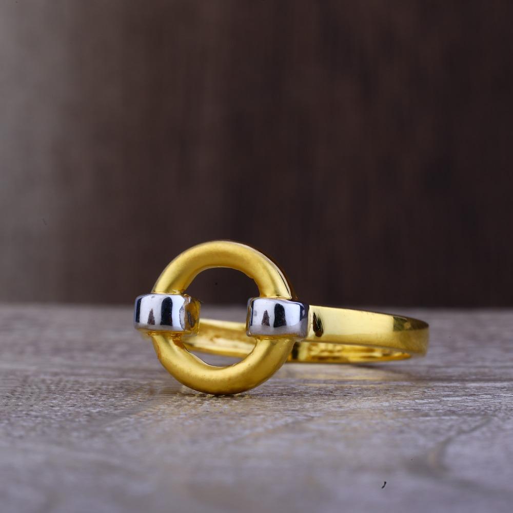 Ladies 22K Gold Round Designer Ring -LPR100