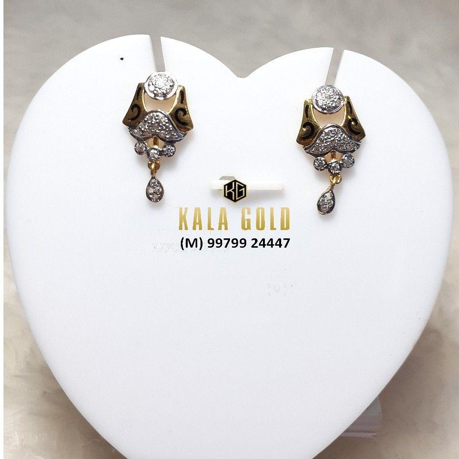 916 Fancy CZ Oxidised Earrings