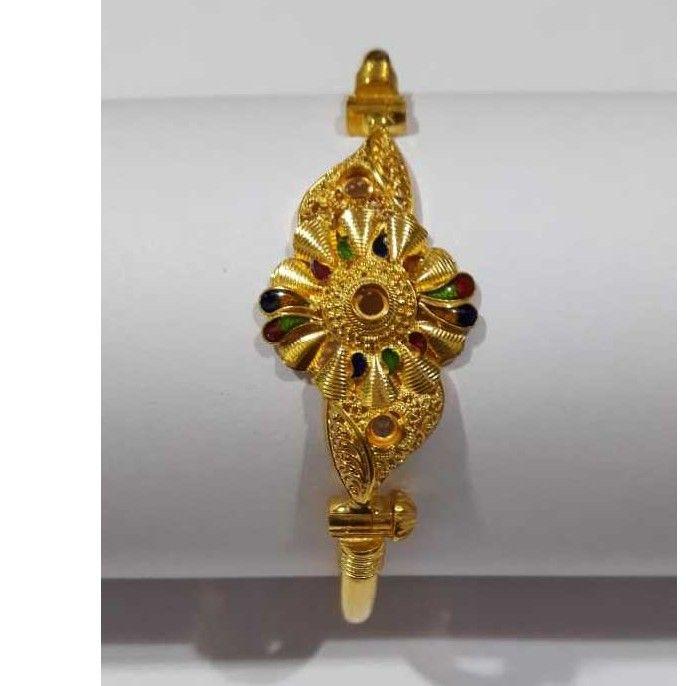 22KT Gold Designer Copper Bracelet