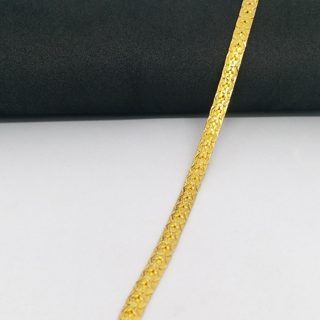 22 KT 916 Hallmark Gold Plain Gents Lucky