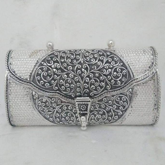 92.5 sterling silver elegant tassel antique oxidised purse