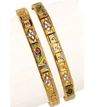 22K / 916 Gold Yellow Antique Ladies Kadli