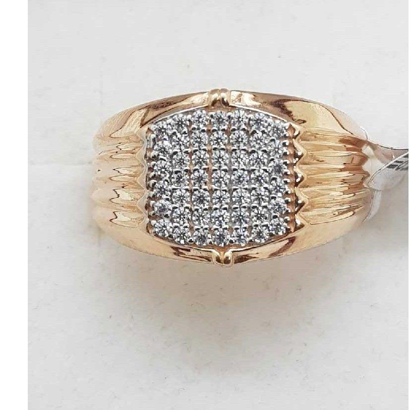 Rose gold hallmark ring SJ-750 GR/3
