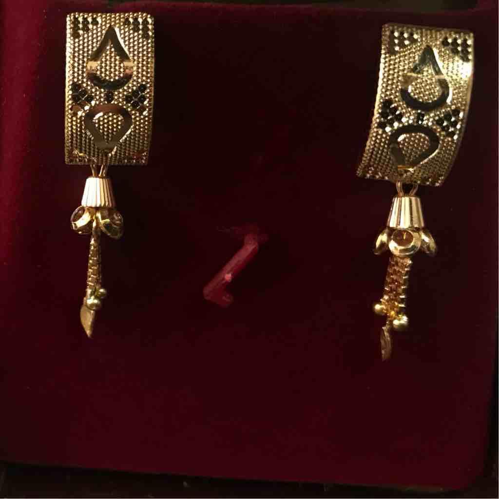 916 fancy plain cnc earrings for engagement