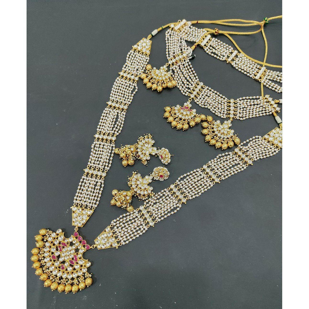 Pearl with kundan bridal set