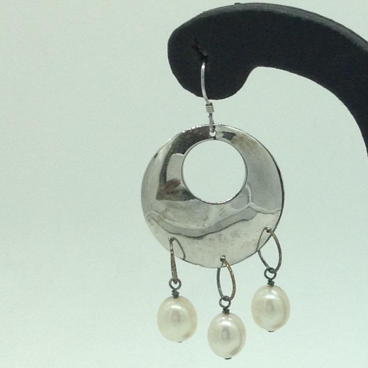 PearlSilverEar HangingsJER0108