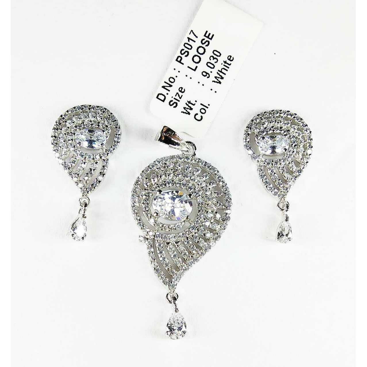 925 Silver Pendant Set With Latest Design