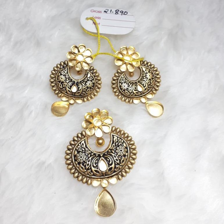 916 Gold Designer Flower Design Pendant Set KG-PS01