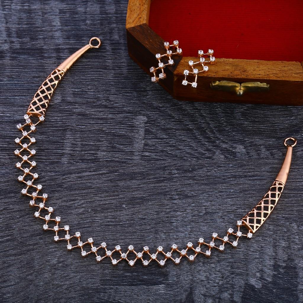 18KT Rose Gold Gorgeous  Women's Necklace Set RN138