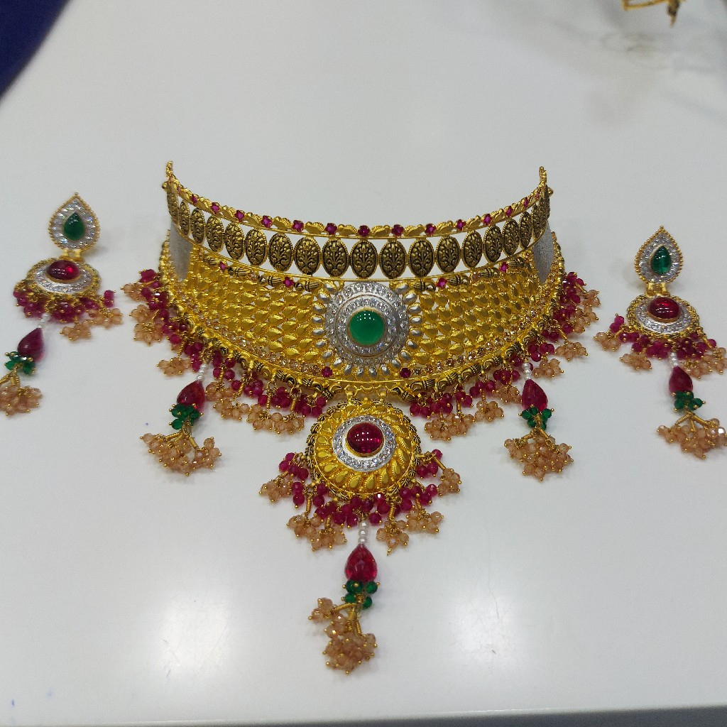 916 Gold Antique Gold fancy Necklace