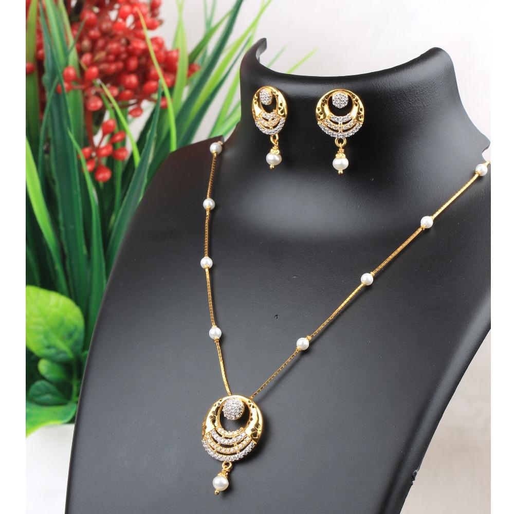 916 Gold CZ Fancy Necklace Set RJ-N02
