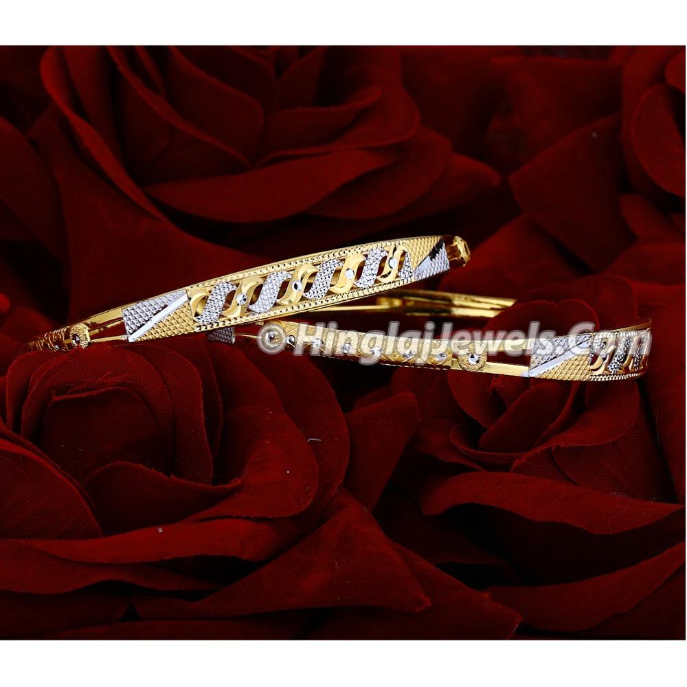 916 Gold Fancy Machine Cut Copper Kadali Bangle HJ-5861