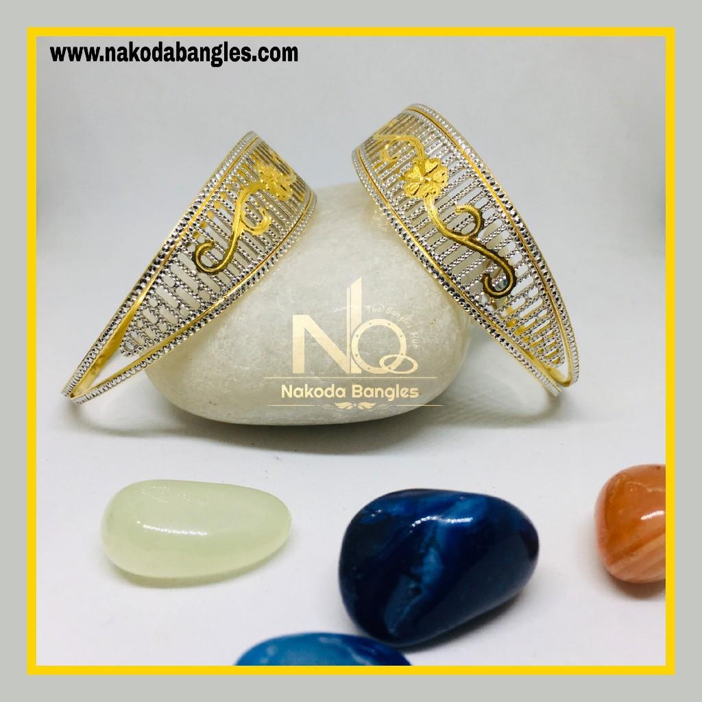 916 Gold CNC Bangles NB - 1277