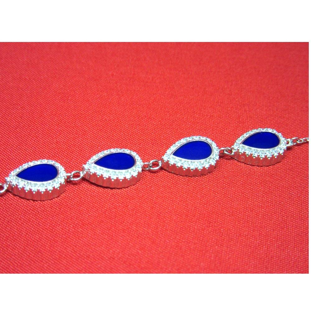 Silver 925 blue stone bracelet sb925-28