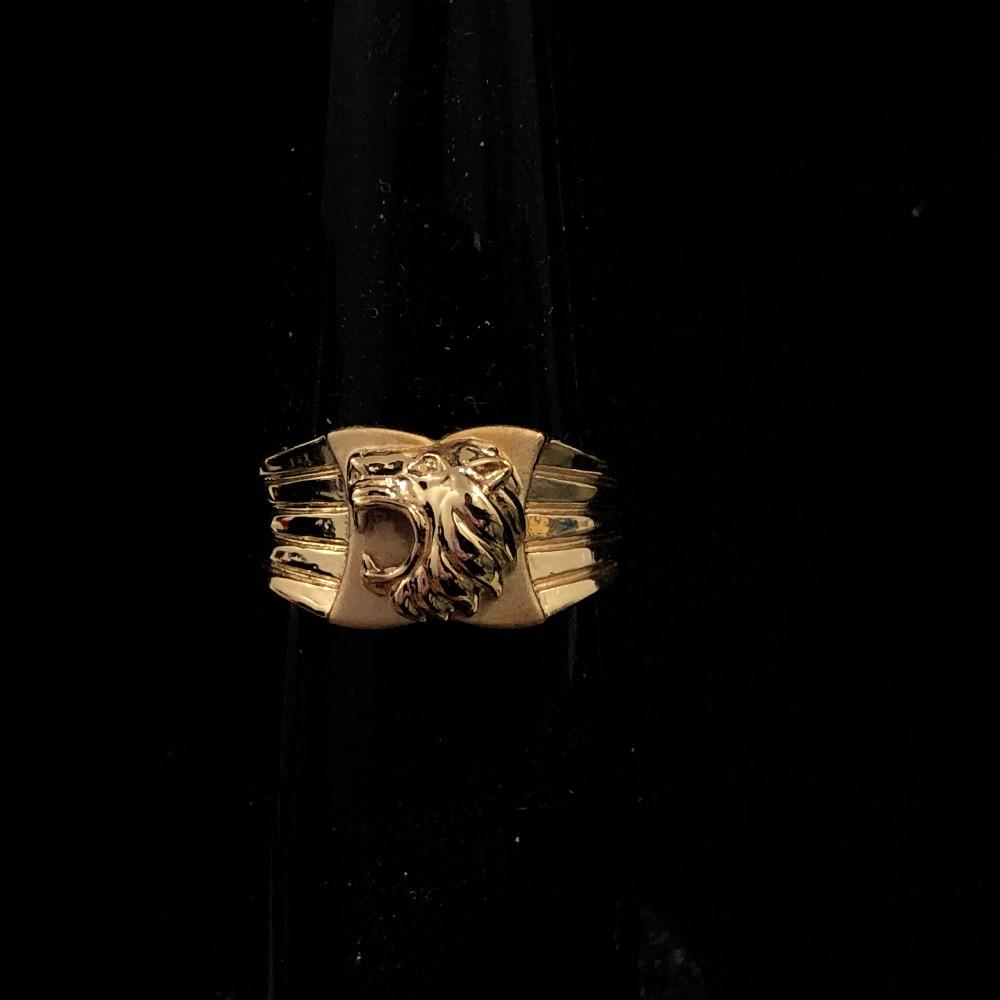 916 Gold Lion Design Ring For Men KDJ-R035