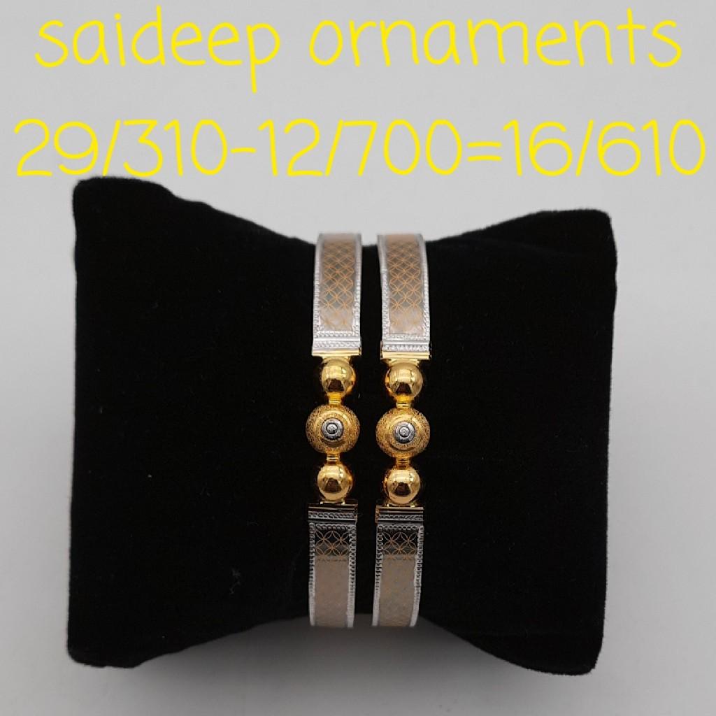 22 kt design copper bangles kadli