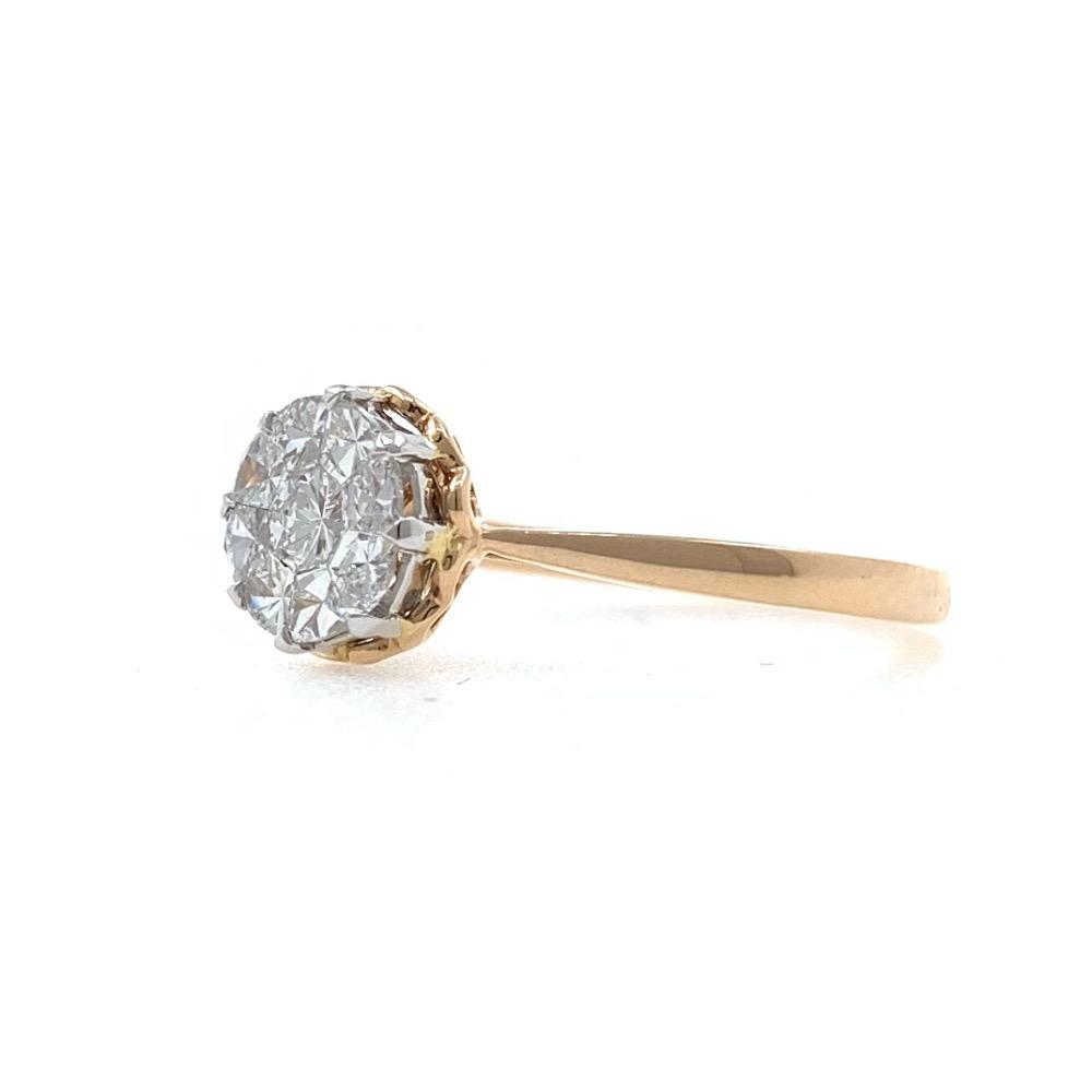 18kt / 750 rose gold classic engagement diamond ladies ring 9lr350