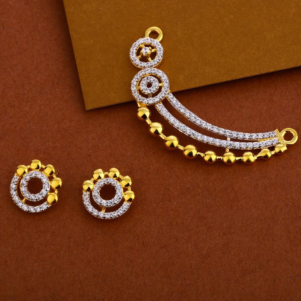 22KT Gold Designer Mangalsutra Pendant Set MP264