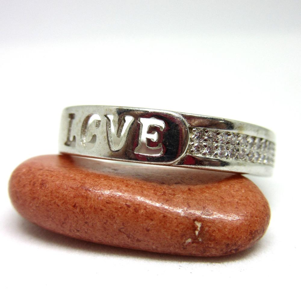 Silver 925 love cutting ring sr925-1