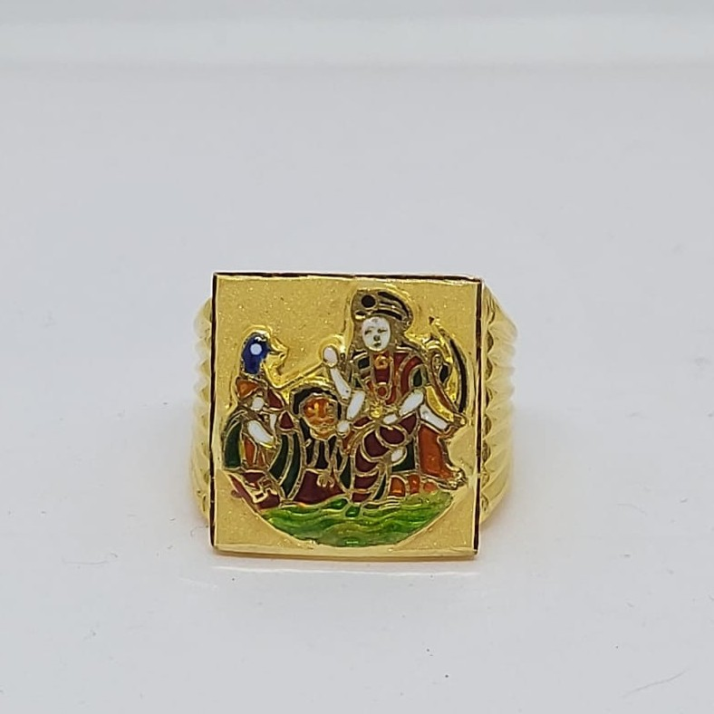 916 Gold Fancy Gent's Vahanvati Maa Ring