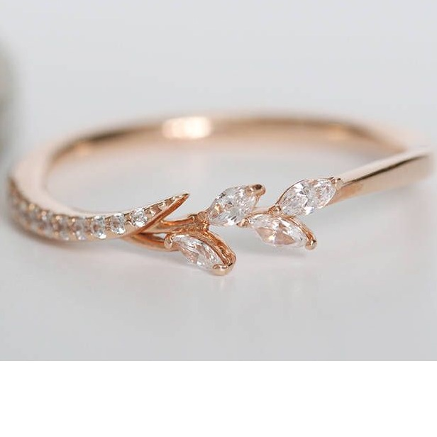 fancy rose gold diamond ring
