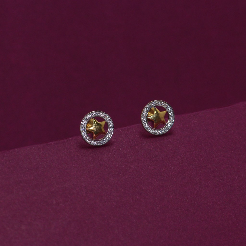 22KT Hallmarked Star Earring