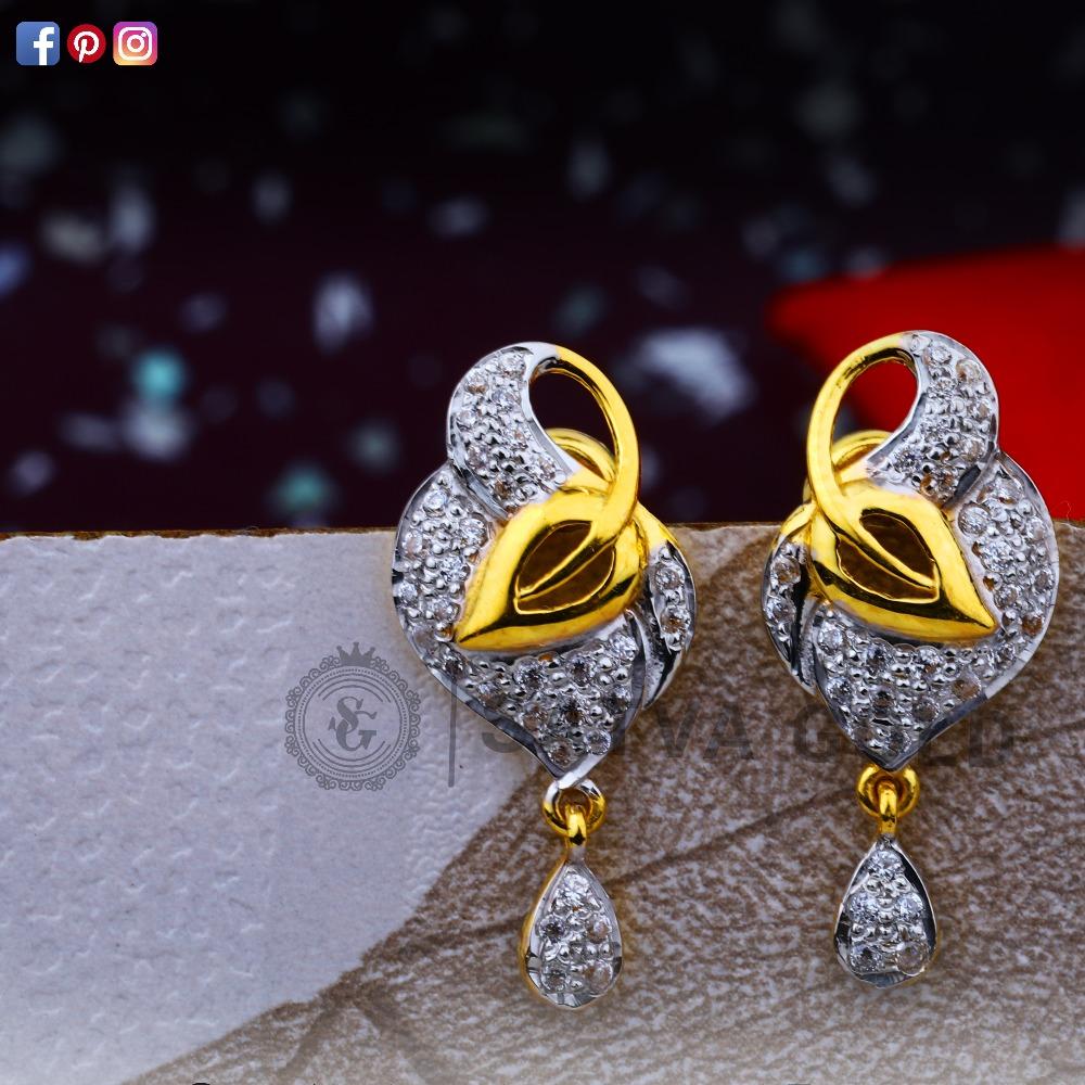 916 gold earrings sge-0036
