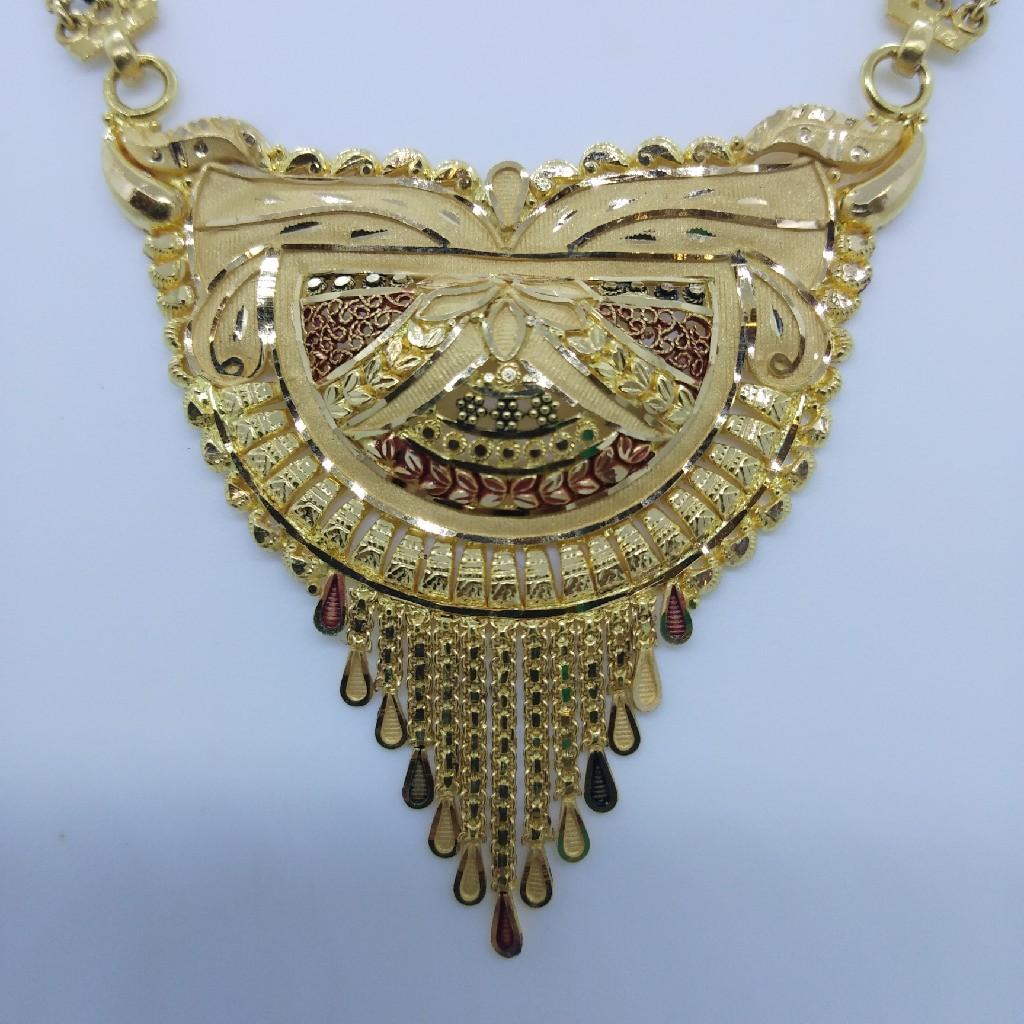 916 GOLD KOLKATI FANCY MANGALSUTRA TJ-035