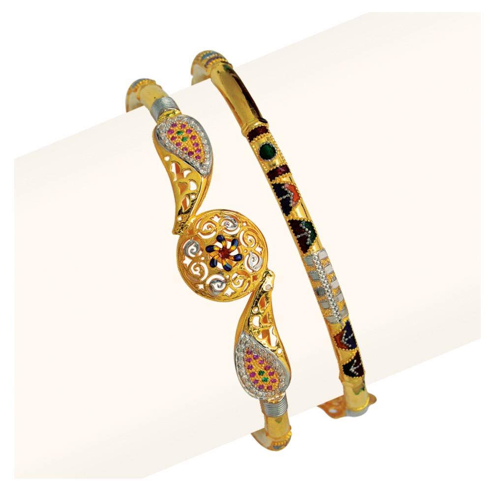 916 Gold Single Pipe Manka Modhiya Copper Kadli RJSP-048