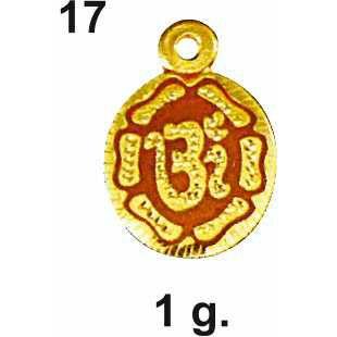 916 Gold Religious Om Pendant