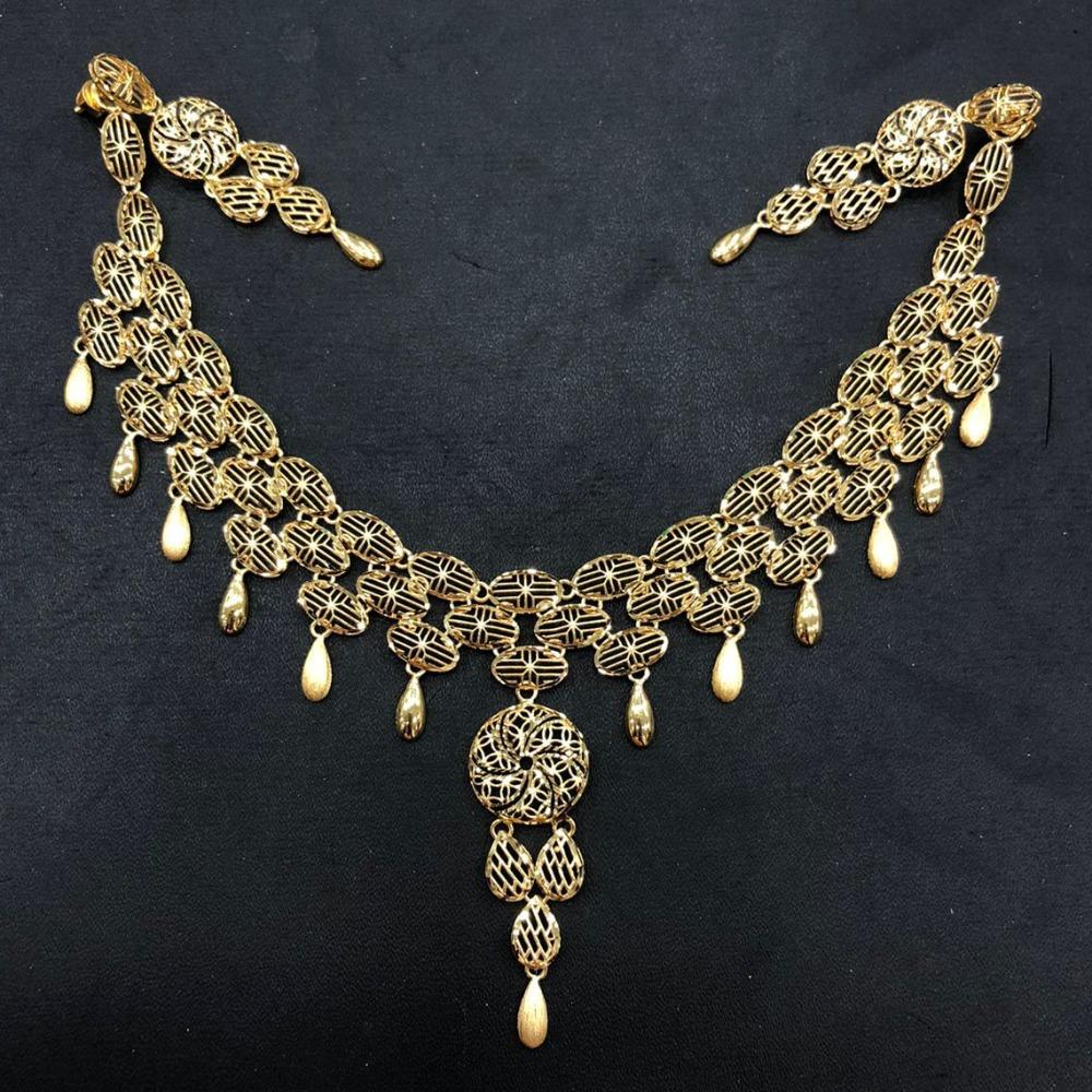 22K Gold Fancy Necklace Set