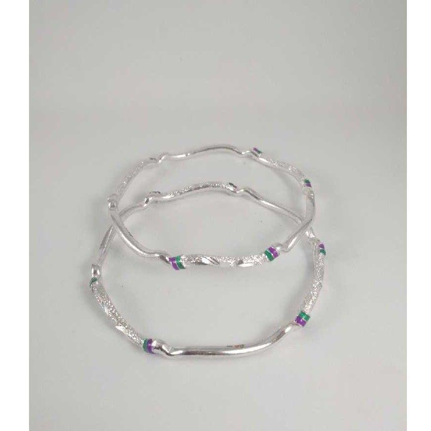 Silver Fancy Bangles. NJ-B01051
