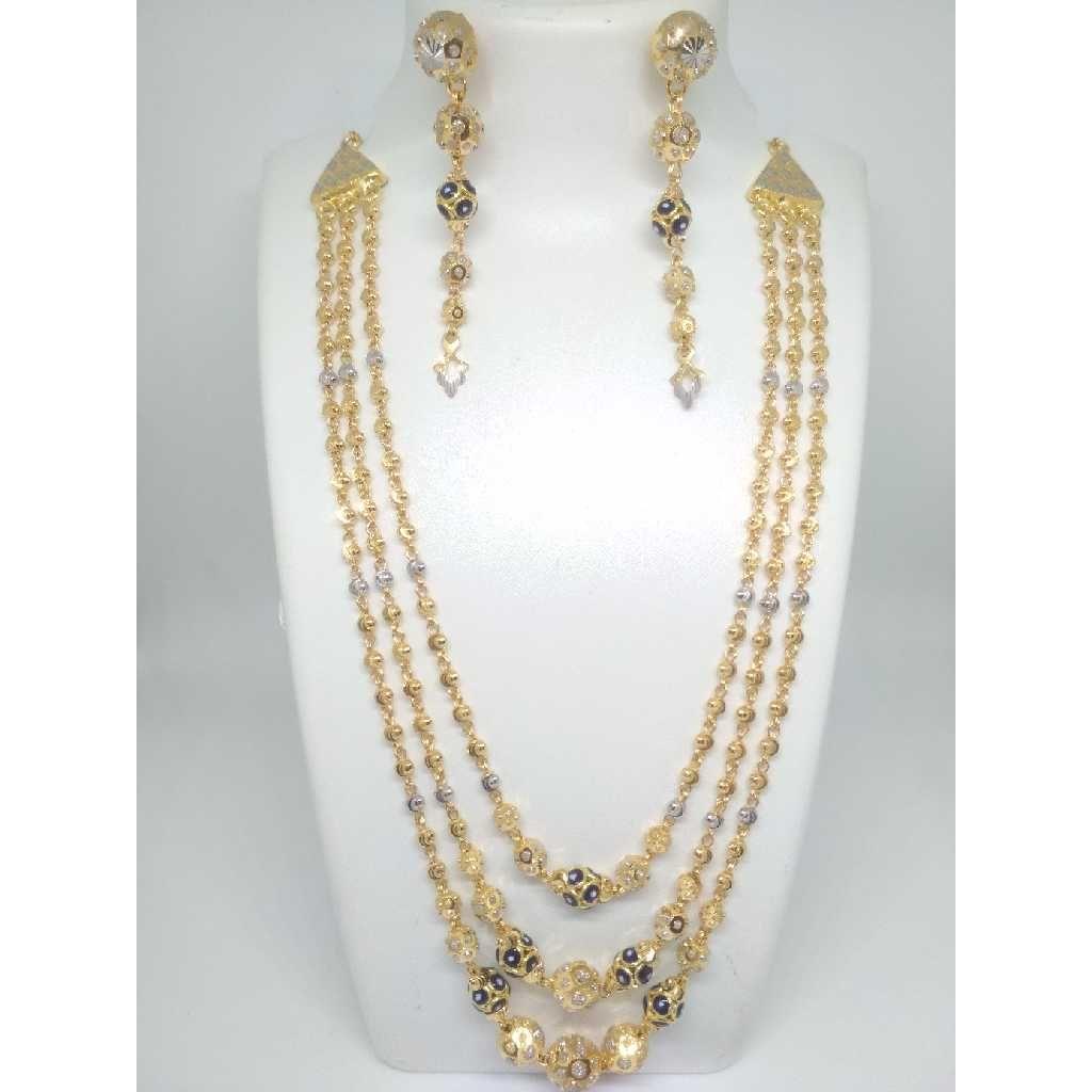22 K Gold Fancy Pendant Set. NJ-P0852