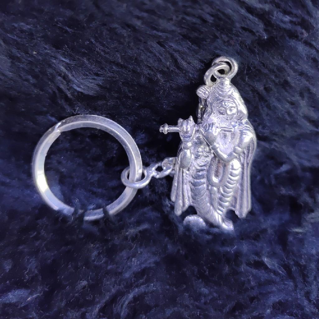 Silver Kanhaji Idol Keychain SKY-40