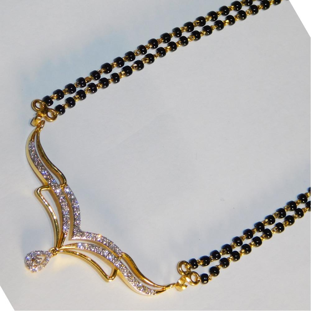 18K gold diamond mangalsutra agj-tm-23
