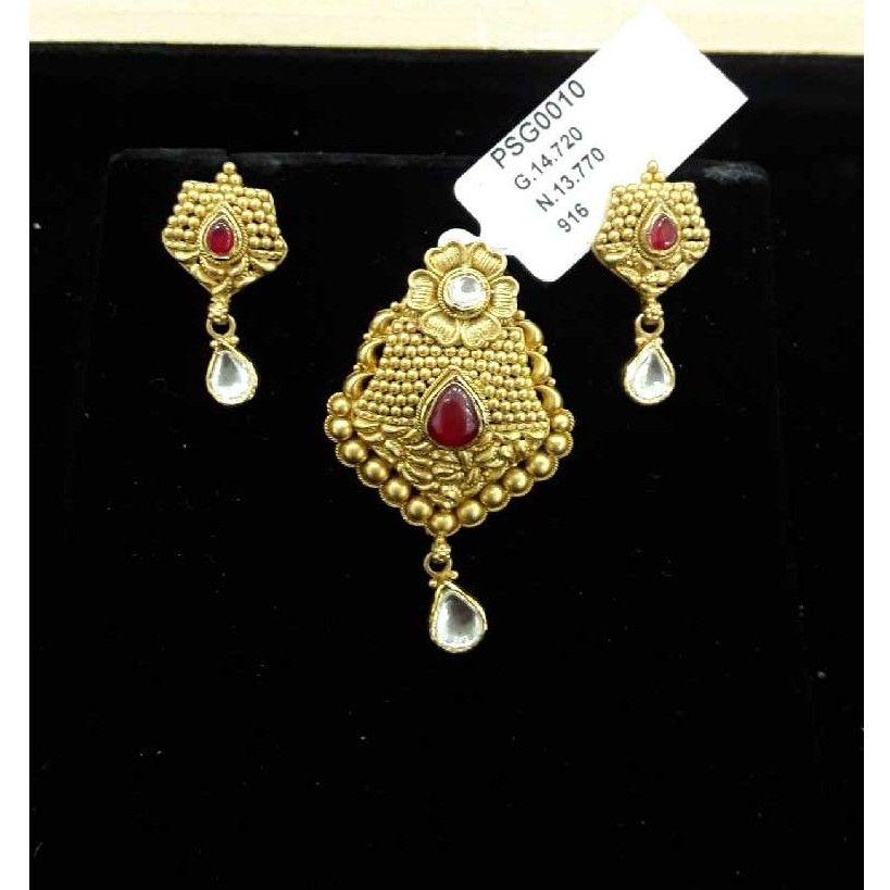 916 Gold Ornaments Pendant Set