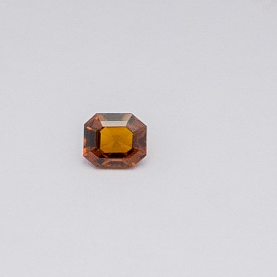 1.5ct asscher brown hessonite-gomed
