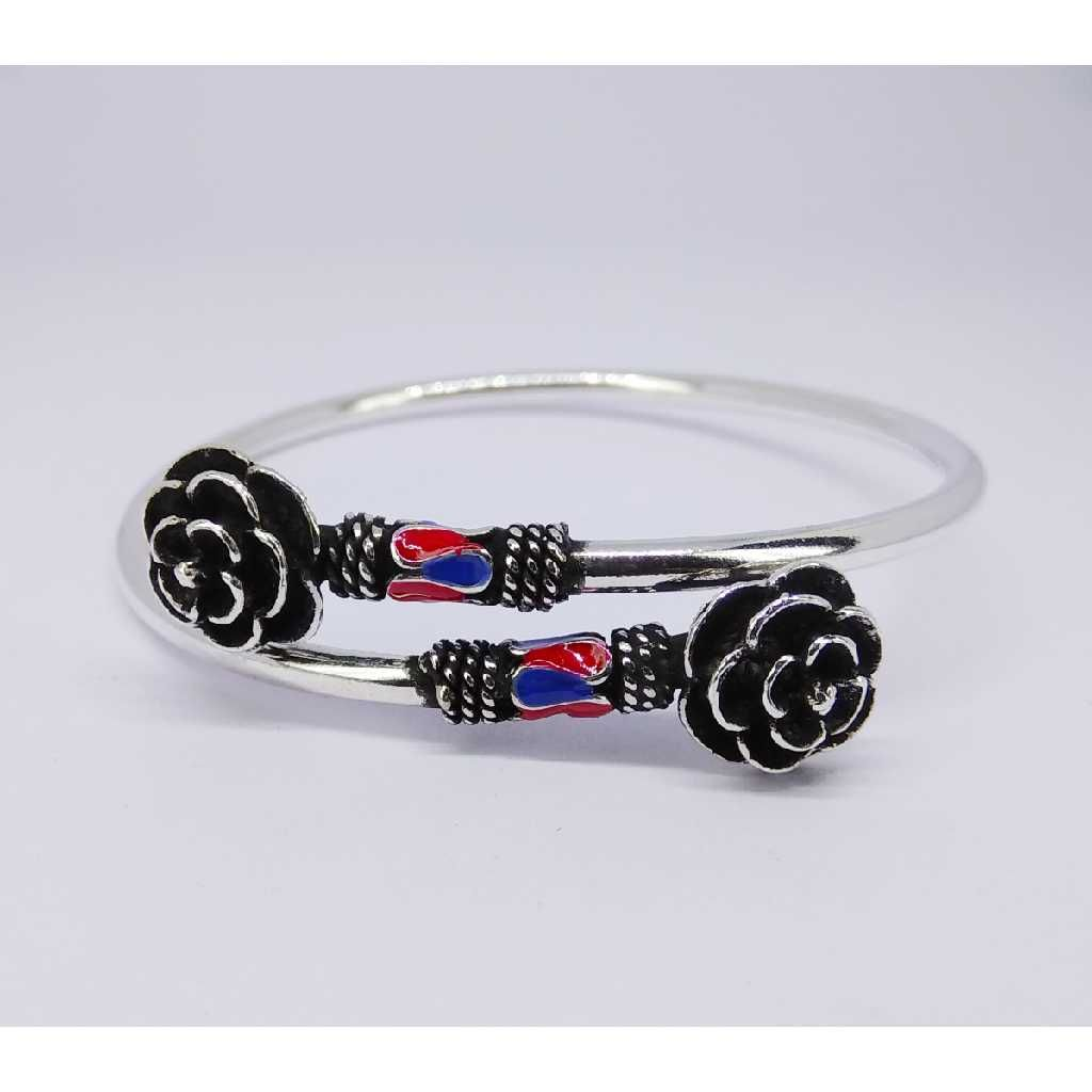 Oxidize enamel flexible ladies kada bracelet MG-B002