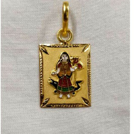 Khodiyar Maa Meenakari Pendant