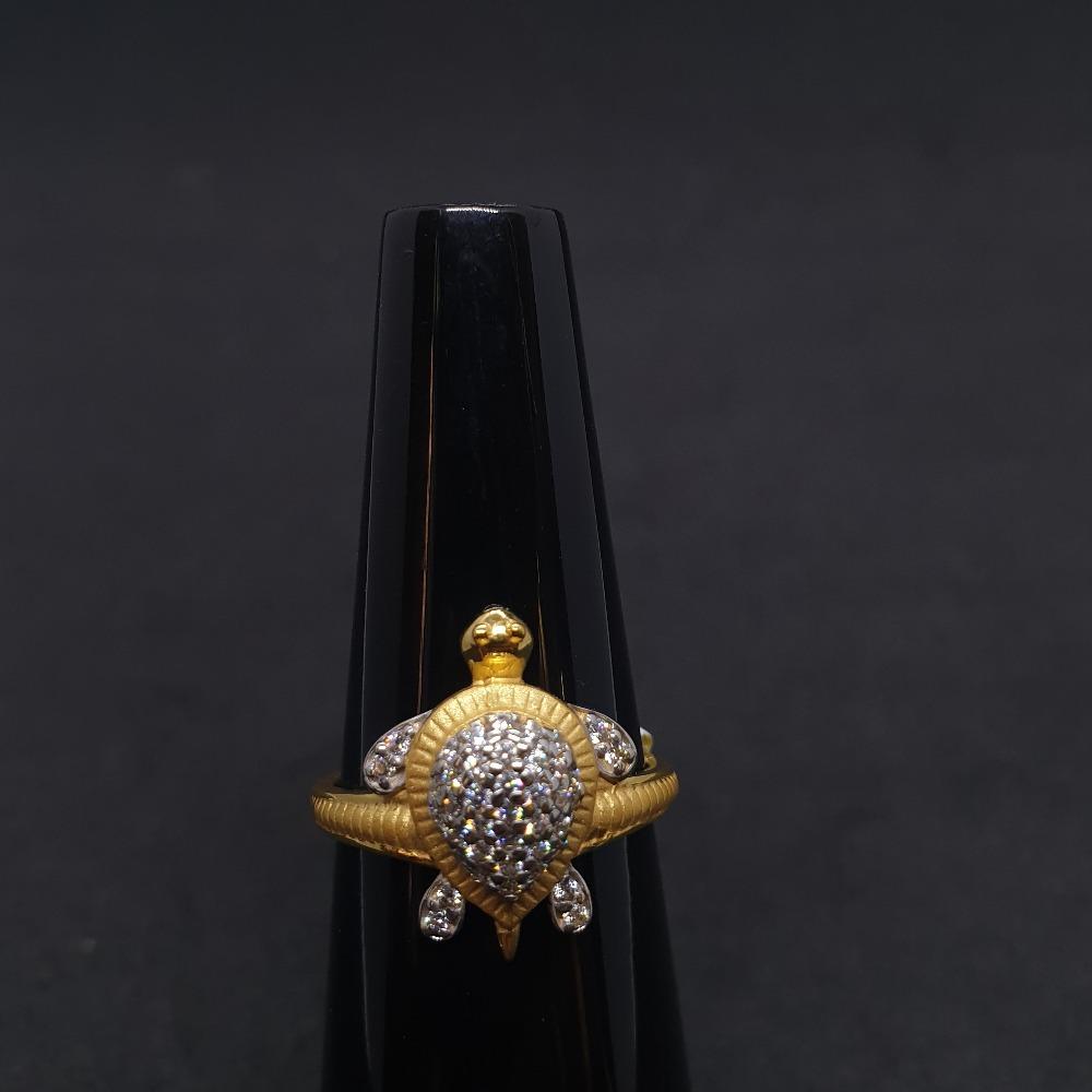 Tortoise Ladies Ring Diamond LRG-0355
