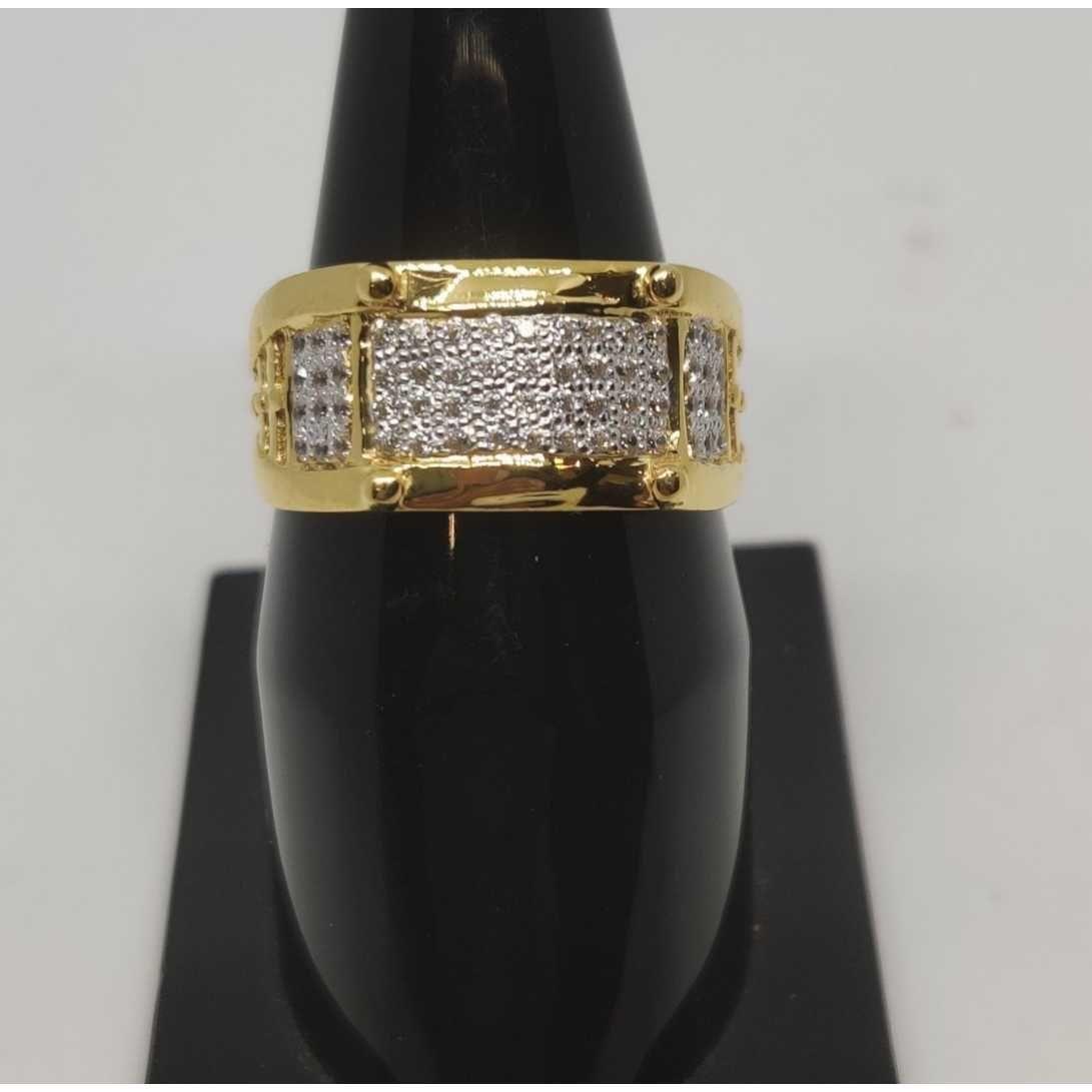 22k Gents Fancy Gold Ring Gr-28636