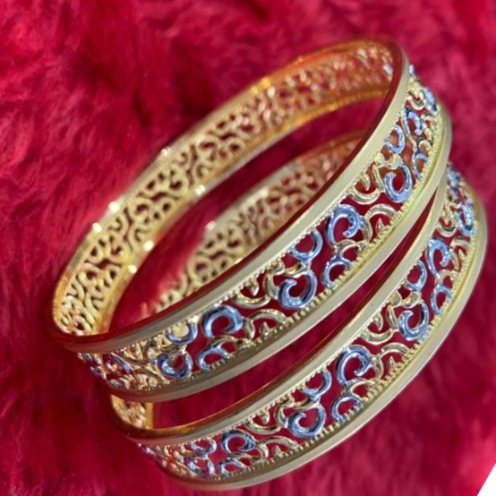 22KT/ 916 Gold Fancy Special occasional Cooper Kadli For Ladies