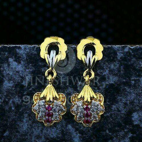 18kt Color Stone Cz Ladies Tops ATG -0609