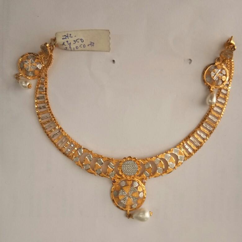 916 Gold hallmark Necklace set NB5738