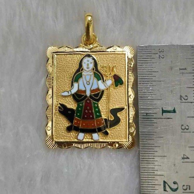 Gold khodiyar maa pendant